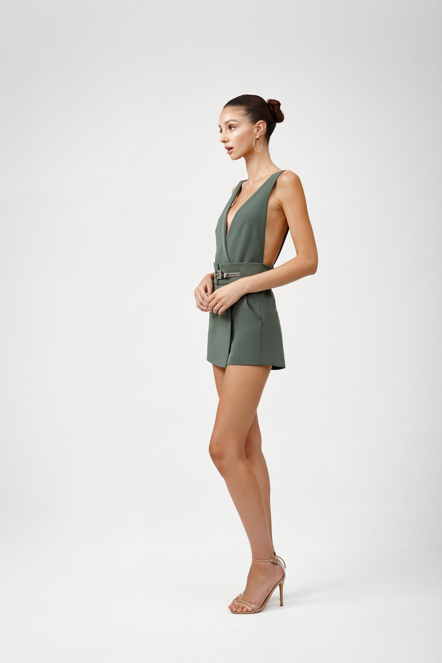 Deni Playsuit - Green