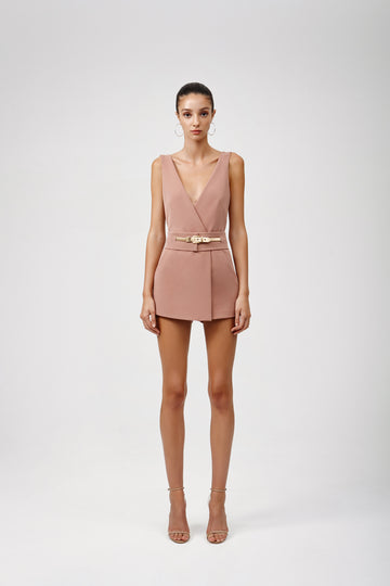 Deni Playsuit - Dusty Pink
