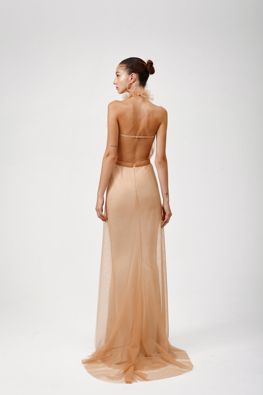 Jasmin Dress - Apricot Cream