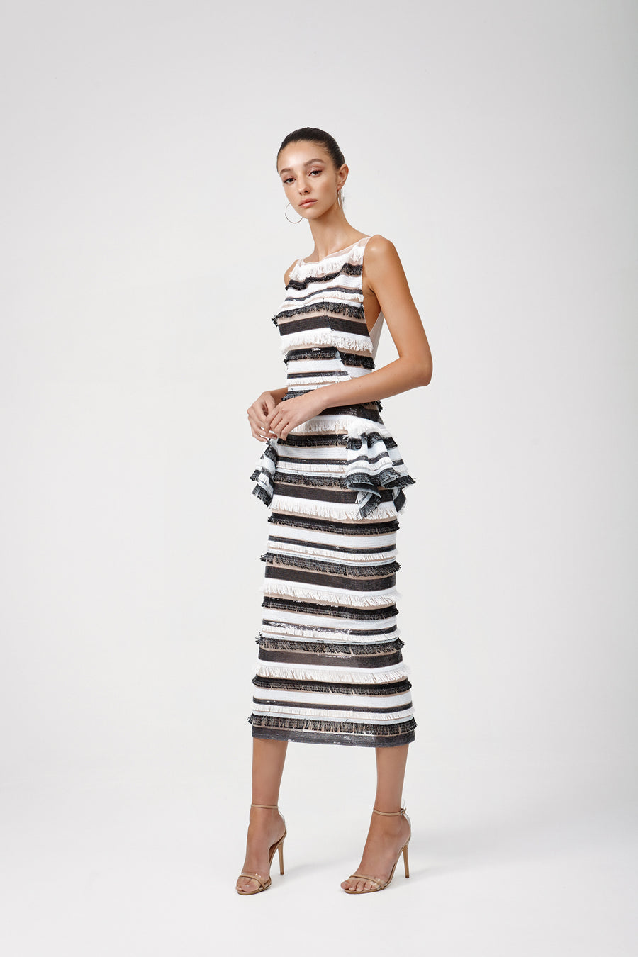 Genevive Dress - Black/White