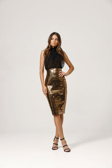 Micah Dress - Gold