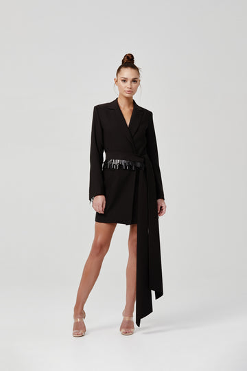 Akila Jacket Dress - Black