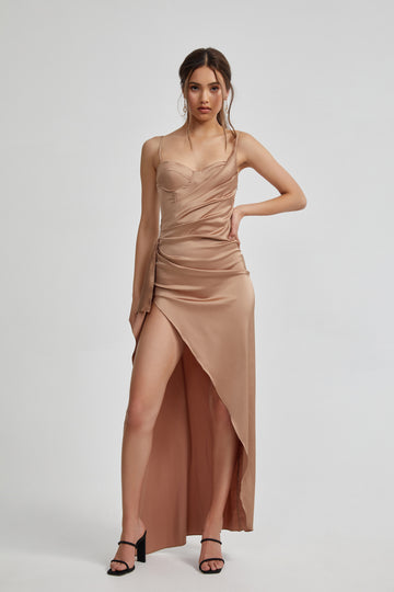 Tameka Dress - Bronze