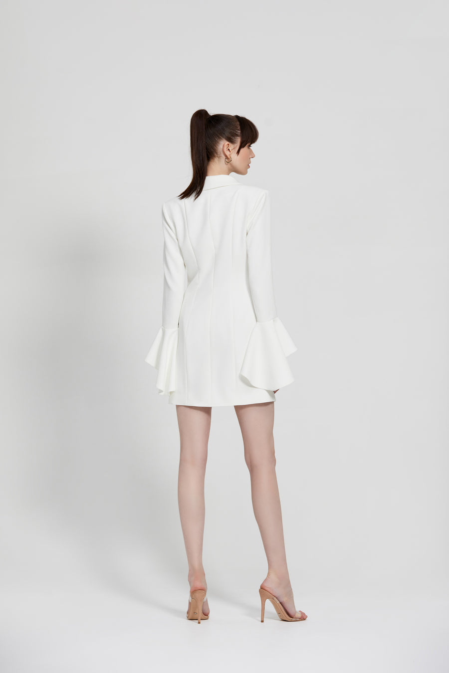 Arjana Jacket Dress - White