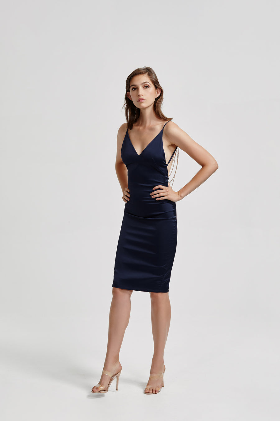 Alma Dress - Navy