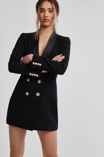 Rosie Jacket Dress - Black