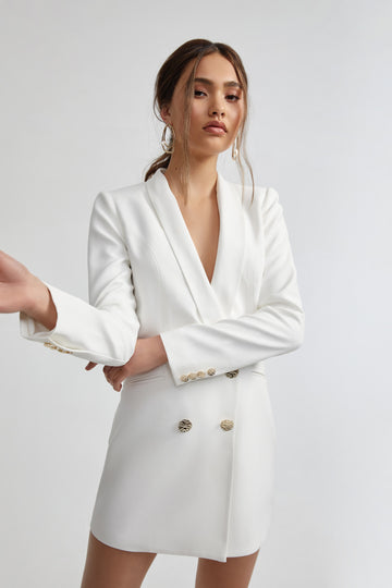 Rosie Jacket Dress - White