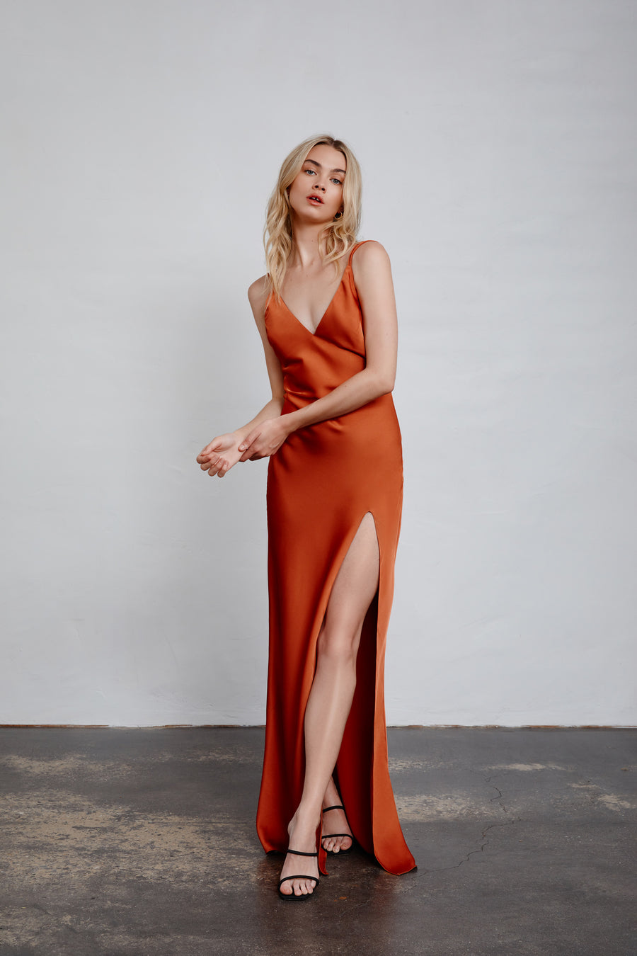 Miranda Dress - Rust