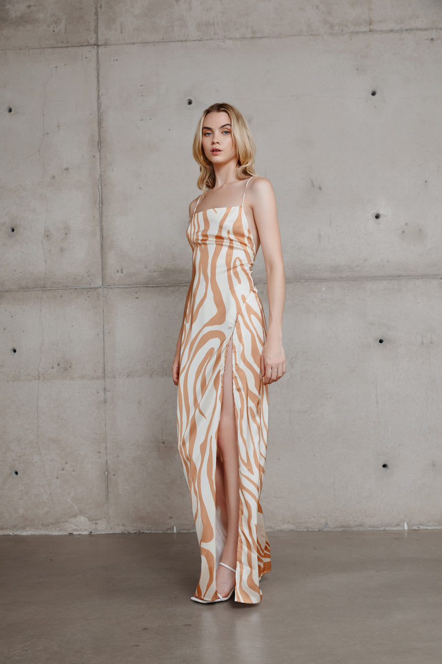 Sibella Dress - Caramel/Sand
