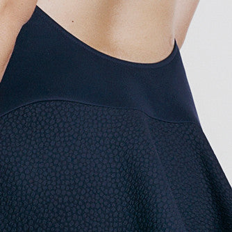 Image of 'Calypso' Short Dress - French Navy Detail