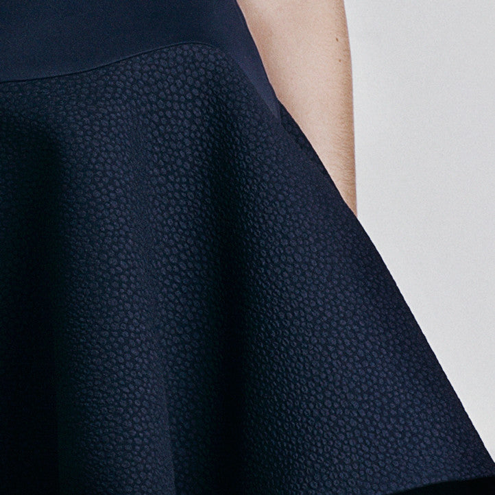 Image of 'Calypso' Full Skirt - French Navy Detail