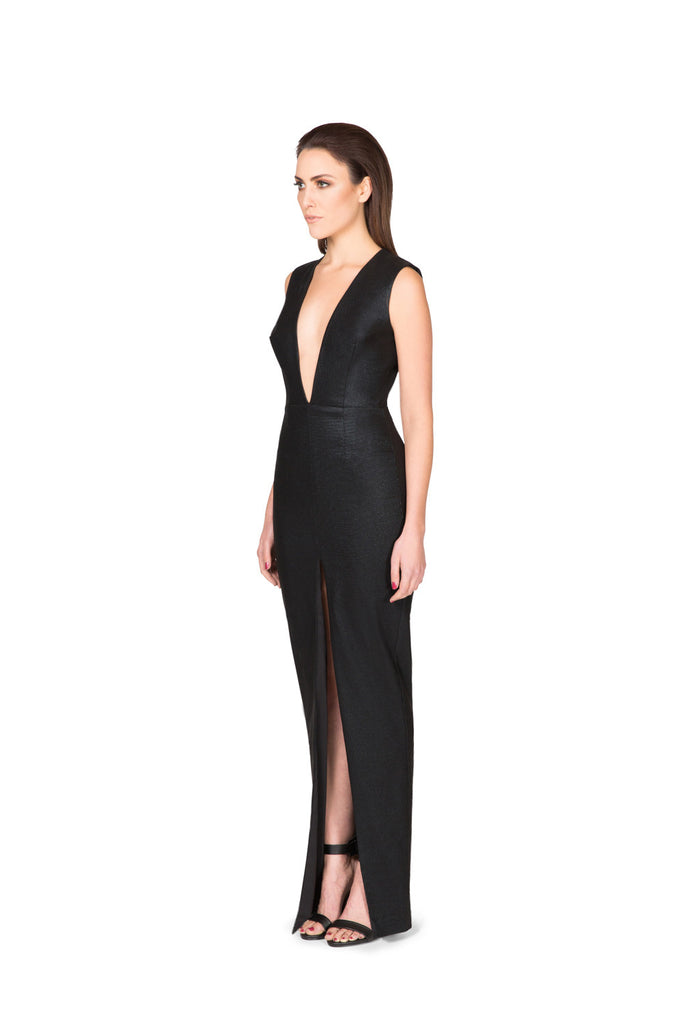 Image of Limitless Full Length Dress - Side