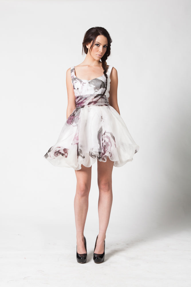 Image of Love Bubble Dress in Wild Rose Print Front