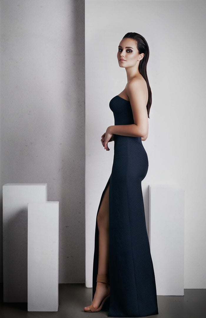 Image of 'No Limit' Dress in French Navy Side