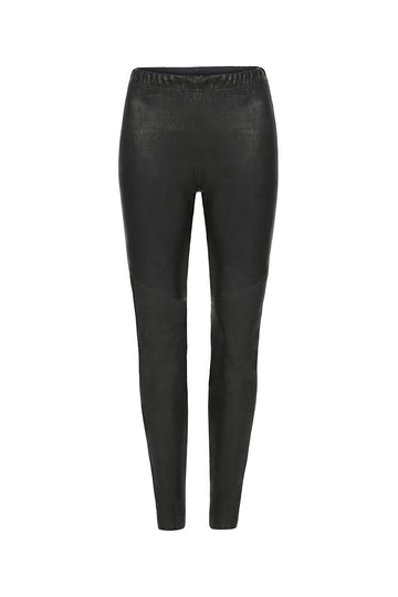 Image of Stretch Leather Legging Front