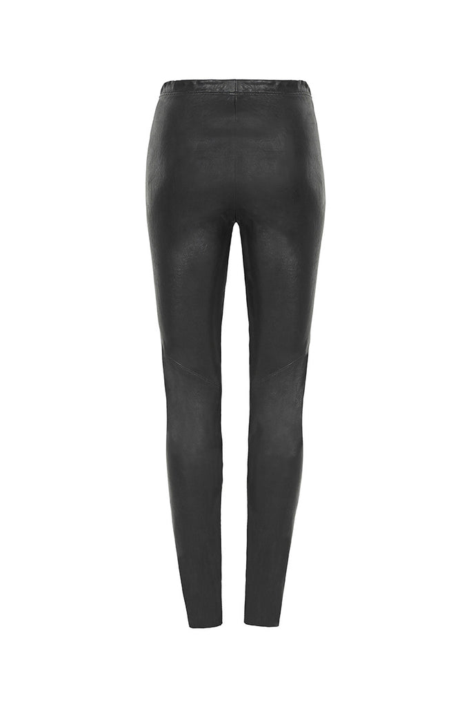 Image of Stretch Leather Legging Back
