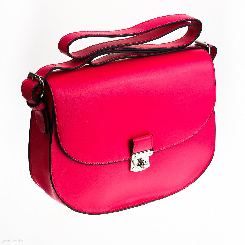 Hillary Cross Body Bag (Fuschia)