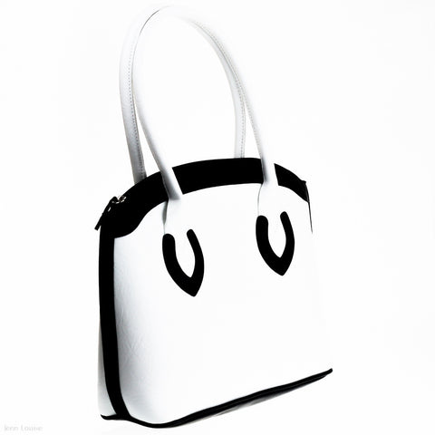 Michelle Handbag (White/Black)