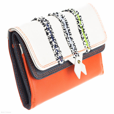 Ginger Wallet (Orange/Cream)