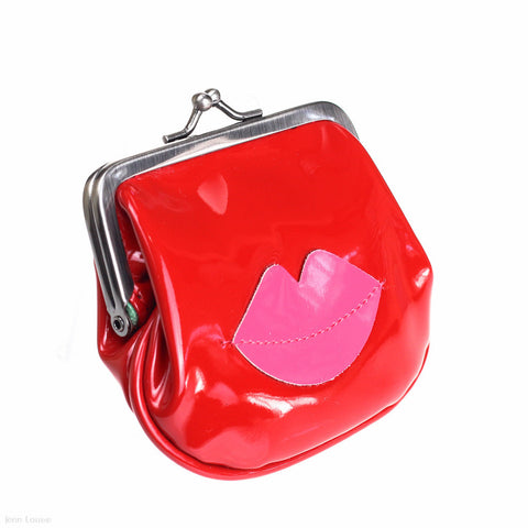 Dot Coin Purse (Red/Pink)