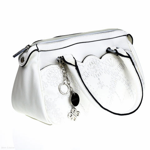 Embossed Day Bag (White)