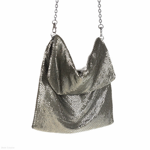 Mesh Occasion Bag (Pewter)