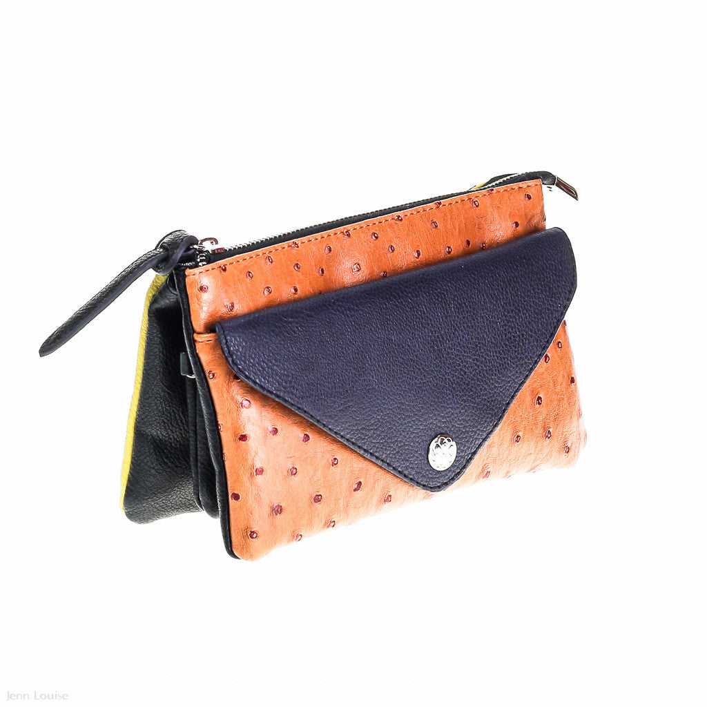 Madison Cross Body Bag (Black/Yellow)
