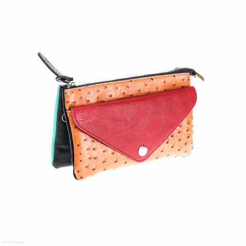 Madison Cross Body Bag (Red/Aqua)