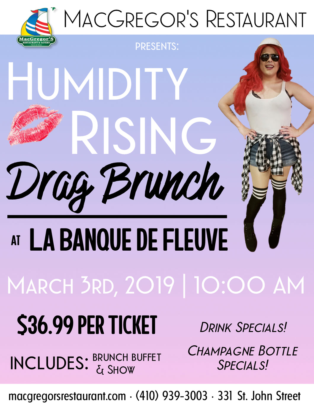 Humidity Rising - Drag Brunch Ticket