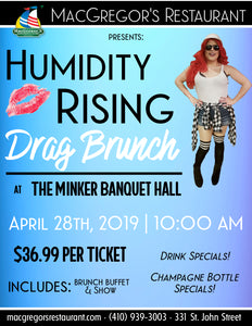 Humidity Rising - Drag Brunch & Show