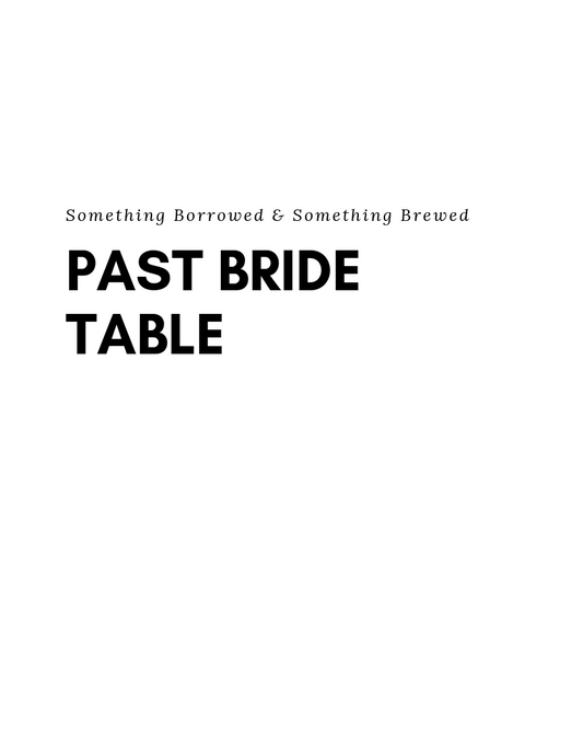 Bridal Show - Past Bride Table