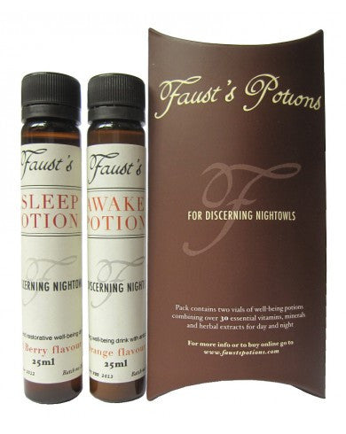 Faust's Awake & Asleep Hangover Cures, 25ml X 2