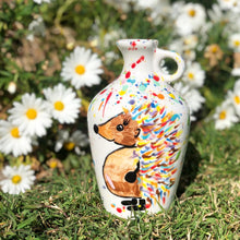 Load image into Gallery viewer, Hand Painted Hedgehog/Hare Vase