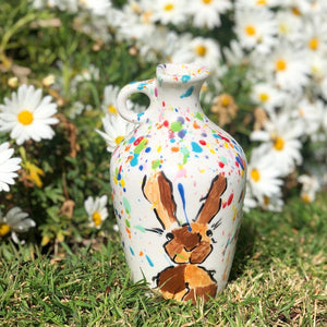 Hand Painted Hedgehog/Hare Vase