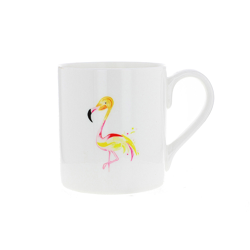 Design is taken from an original watercolor by Penelope Eyre. The delicate design features an elegant flamingo.