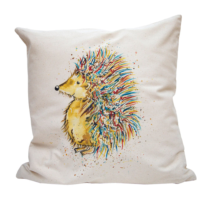 This gorgeous cushion cover captures this colourful Hedgehog.
