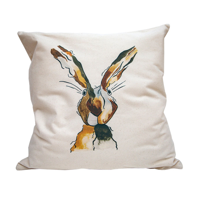 This gorgeous cushion cover captures Mrs. Hare.