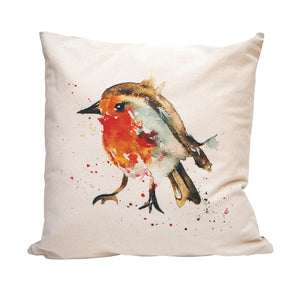 This gorgeous cushion cover captures this winter favourite, the Robin.