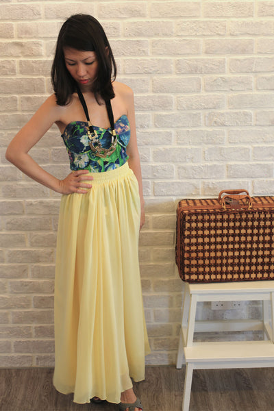 Mabel Maxi Skirt in Dainty Yellow - Mint Ooak - Skirt - 1