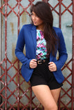 Colourpop Gold Button Blazer in Blue - Mint Ooak - Blazer - 1