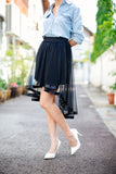 Miles Organza Hi-Low Skirt In Black - Mint Ooak - Skirt - 5