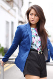 Colourpop Gold Button Blazer in Blue - Mint Ooak - Blazer - 2