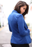 Colourpop Gold Button Blazer in Blue - Mint Ooak - Blazer - 3