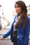 Colourpop Gold Button Blazer in Blue - Mint Ooak - Blazer - 4