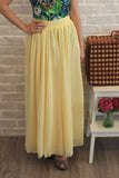 Mabel Maxi Skirt in Dainty Yellow - Mint Ooak - Skirt - 4