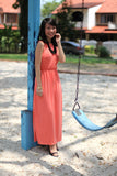 Ann Classic Maxi in Peach - Mint Ooak - Dress - 2