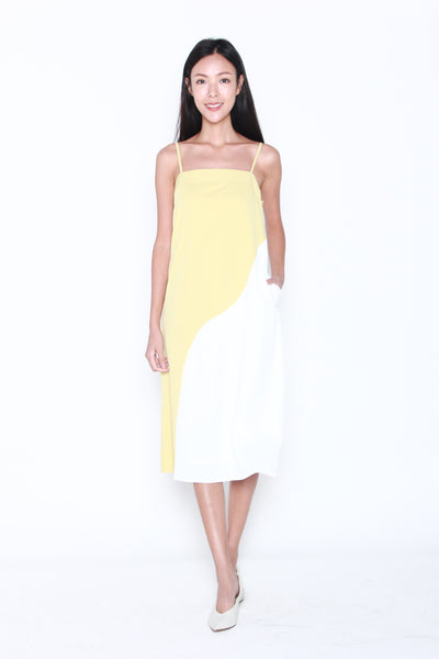 Jerine Colour Block Shift Dress in Sunshine