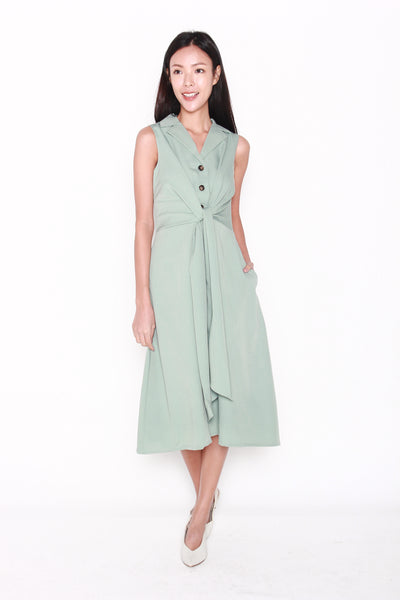 Josephine Tuxedo Style Dress in Mint