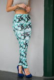Jas Printed Floral Jeggings in blue - Mint Ooak - Pants/Jegging - 3