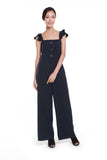 Rebecca Button Jumpsuit in Navy